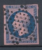 N°14 BLEU SUR LILAS OBLITERATION ETOILE. - 1853-1860 Napoleon III