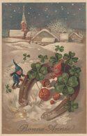 Lutins - Champignons - Fer à Cheval - Trèfles - Porte-bonheur - 2 Scans - Nouvel An