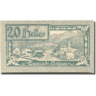 Billet, Autriche, Grünau, 20 Heller, Village 1920-11-31, SUP Mehl:FS 300b - Austria