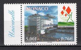 MONACO - 2000 HANNOVER WORLD'S FAIR  M1178 - 2000 – Hannover (Germania)