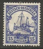 German East Africa - 1906 Kaiser's Yacht 15h Mint Hinged *  Sc 34 - Colony: German East Africa