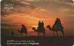 UAE - Etisalat - Camels Desert Safari In Fujairah, Remote Mem. 30Dhs, Used - Verenigde Arabische Emiraten