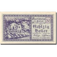 Billet, Autriche, Grossraming, 80 Heller, Ferme 1920-05-01, SPL Mehl:FS 296 - Autriche