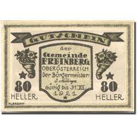 Billet, Autriche, Freinberg, 80 Heller, Château 1921-12-31, SPL Mehl:FS 211IIa - Autriche