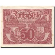 Billet, Autriche, Linz, 50 Heller, Village, 1920, SUP Rouge Mehl:FS 443 - Austria