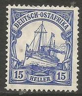 German East Africa - 1906 Kaiser's Yacht 15h Fine Used  Sc 34 - Colony: German East Africa