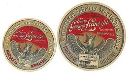 Lot De 4 étiquettes De CAMEMBERT  Veuve Georges LAINE Et Fils - Cheese