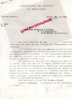 87- SAINT JUNIEN-BRUXELLES-RARE LETTRE AMBASSADE DE FRANCE GANTERIE ALFRED PENET PAQUET-ANVERS-VERGNIAUD RATINAUD 1930 - Old Professions