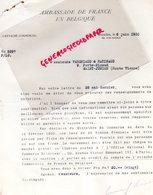 87- SAINT JUNIEN-BRUXELLES-RARE LETTRE AMBASSADE DE FRANCE GANTERIE MME SOIRON -DEVOS JOAILLIER-VERGNIAUD RATINAUD 1930 - Old Professions