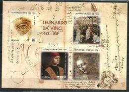 2019 LEONARDO DA VINCI Foglietto Nuovo ** MNH Bellissimo - 6. 1946-.. Repubblica
