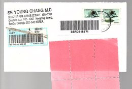 Bird Stamps + Label SeoGu, Gwangju  To Netherands (281) - Korea (Zuid)