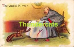 CPA EN RELIEF GAUFREE EMBOSSED CARD HUMOUR HUMOR DACHSHUND TECKEL DACKEL DOG CHIEN ( PLIS !! CREASES !! ) - Humour