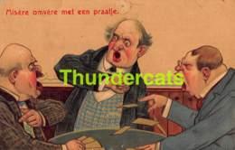 CPA EN RELIEF GAUFREE EMBOSSED CARD HUMOUR HUMOR JEU DE CARTES PLAYING CARDS ( PINHOLE - TROU DE PUNIASE ) - Humour