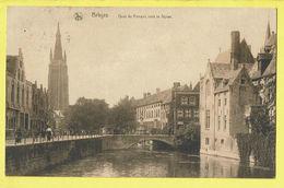 * Brugge - Bruges (West Vlaanderen) * (Nels, Série Bruges Luxe, Nr 5) Quai Du Rosaire Vers Le Dyver, Quai, Canal, Pont - Brugge