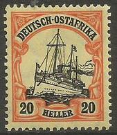 German East Africa - 1906 Kaiser's Yacht 20h MNH **  Sc 35 - Colony: German East Africa