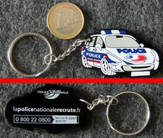 Porte-Clé En Résine Voiture De La POLICE NATIONALE (recrutement) - Police & Gendarmerie