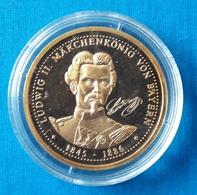 Medal Coin Ludwig II. Marchen Konig Von Bayern Ø 25 Mm  Germany - Coins