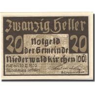 Billet, Autriche, Niederwaldkirchen, 20 Heller, Château, 1920 SPL Mehl:FS 673a - Autriche