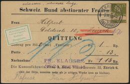 Postsache Schweiz Nachnahme EF 139x Bund Abstineneter Frauen Annahme Verweigert - Schweiz