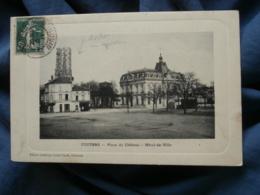 Coutras  Place Du Chateau  Hotel De Ville  Echafaudage Clocher  Coiffeur  Ed. Garde  Circulée 1911- R294 - France