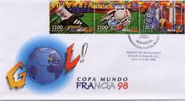 Lote 2103-5F, Colombia, 1998, SPD - FDC, Copa Mundial Francia 98, FIFA, Soccer, Foorball, Futbol, France - Colombia