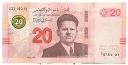Tunisie 2018- Billet De 20 Dinars (Théatre D'El Jem Et Syndicaliste Farhat Hached) - Tunisia
