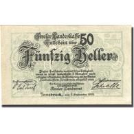 Billet, Autriche, Innsbruck, 50 Heller, Blason 1919-09-01 SUP Mehl:FS 1073I - Autriche
