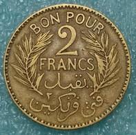 Tunisia 2 Francs, 1924 -1193 - Tunisia