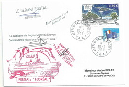 YT 554 - Ile Du Lys - Lettre Postée à Bord Du Floréal - Gérant Postal - Alfred Faure - Crozet - 30/03/2011 - French Southern And Antarctic Territories (TAAF)