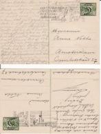 269659Briefkaart 5 Cent Guilloge Op 3 Cent Vliegende Duif (2 Kaarten) - Periodo 1891 – 1948 (Wilhelmina)