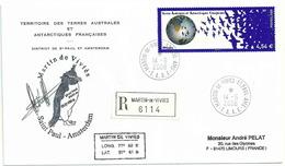 YT 519 - Planète Terre - Vol D'oiseaux - Gérant Postal - Martin De Viviès - Saint Paul - Amsterdam - 14/06/2008 - Covers & Documents