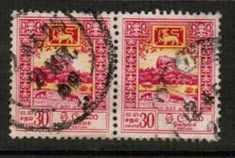 CEYLON  Scott # 343 VF USED PAIR (Stamp Scan # 505) - Sri Lanka (Ceylon) (1948-...)