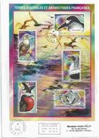YT BF21 - Oiseaux Des Terres Australes - Alfred Faure - Crozet - 01/07/2008 - Covers & Documents