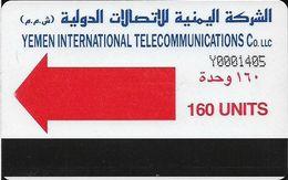 Yemen - Yemen Intl. Telecom. - Autelca - Red Arrow - Cn. Y+7 Digits (dashed), 1990, 160U, Used - Yemen