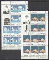 I1157 1987 MALTA EUROPA CEPT ART PAINTINGS ARCHITECTURE !!! 2 FULL SH MNH - Europa-CEPT
