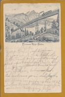 Rare Post Stationery Vitznau-rigi Railway Bridge1896. Seltenes Ganzsachen Vitznau-rigi Eisenbahnbrücke. 2sc. Spoorbrug - Tram
