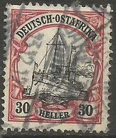 German East Africa - 1909 Kaiser's Yacht 30h Fine Used  Sc 36 - Colony: German East Africa