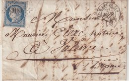 """FRANCE : N° 4 . TYPE CERES . PC 3183 . """" ST MARCELLIN """" . (37) . TB . 1852 . - Postmark Collection (Covers)"""