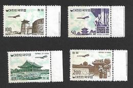 COR001 - 1961 - COREA DEL SUD SERIE CORRENTE CATALOGO YVERT 22A/25A - NUOVA! GOMMA INTEGRA PERFETTA ** - Corea Del Sud