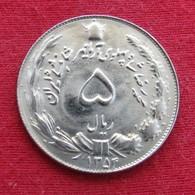 Iran 5 Rials 1975 SH 1354 KM# 1176 Lt 7  Irão Persia Persien - Iran
