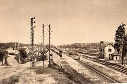Le Rouget  15  Vue Generale Sur La Route- La Gare Et Les Quais- - France