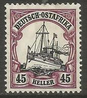 German East Africa - 1906 Kaiser's Yacht 45h Mint Hinged *   Sc 37 - Colony: German East Africa