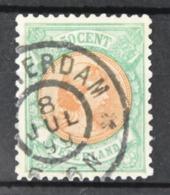 Q 257 ++ NETHERLANDS  1893  NVPH NR. 45 GESTEMPELD USED GEBRAUCHT - Nederland