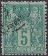 France YT 75f Année 1876 - Type Sage II (Used °) - 1876-1898 Sage (Type II)