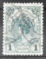 Q 261 ++ NETHERLANDS  1898  NVPH NR. 49 KRONINGSGULDEN GESTEMPELD USED GEBRAUCHT - Nederland