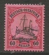 German East Africa - 1906 Kaiser's Yacht 60h Mint Hinged *   Sc 38 - Colony: German East Africa