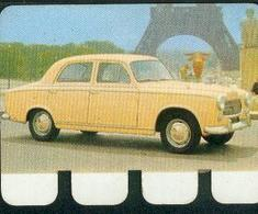 Peugeot 403. Devant Tour Eiffel Image Métallique Du Chocolat COOP. - Vieux Papiers
