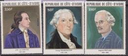 Costa D'Avorio / Ivory Coast / Code D'ivoire - Painting Art Washington Roosevelt Goethe Set MNH - George Washington