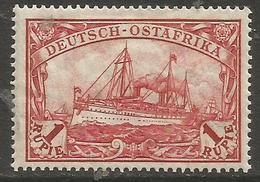 German East Africa - 1915 Kaiser's Yacht 1r Mint Hinged *   Sc 39 - Colony: German East Africa