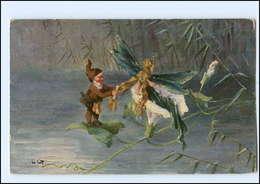Y12404/ Heinzelmännchen Und Libelle  Tuck`s Fantasie AK 1912 Zwerg - Postcards